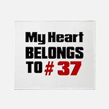 My Heart Belongs To # 37 Throw Blanket
