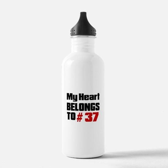 My Heart Belongs To # Water Bottle