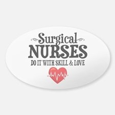 Surgical Nurse Sticker (Oval)