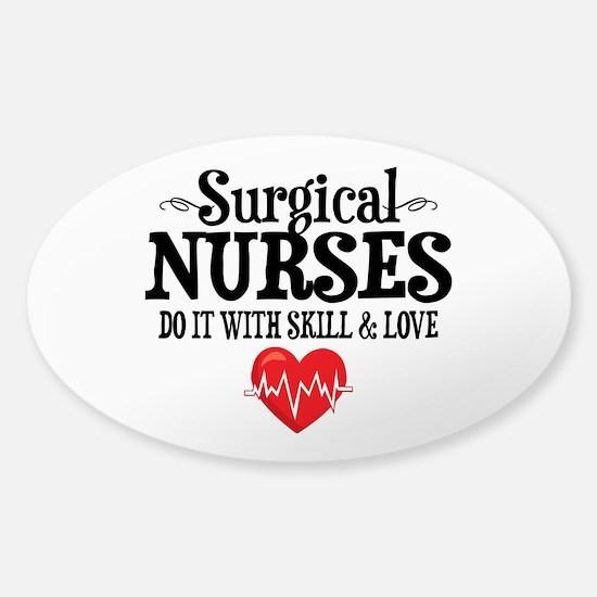 Surgical Nurse Sticker (Oval)