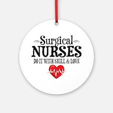 Surgical Nurse Round Ornament