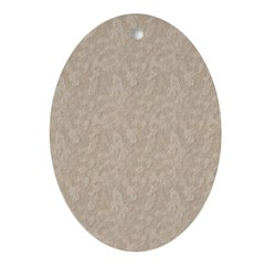 Tan Cement Look Ornament (Oval)