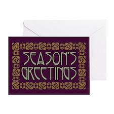 Art Nouveau Season's Greeting Greeting Card