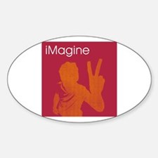 iMagine - Peace - Siloette Oval Decal