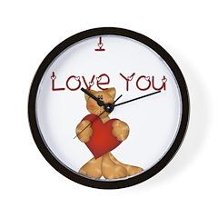 I Love You...Kitty Wall Clock