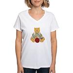 Dressed Up Kitty Women's V-Neck T-Shirt