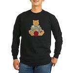 Dressed Up Kitty Long Sleeve Dark T-Shirt