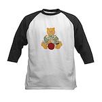 Dressed Up Kitty Kids Baseball Jersey