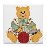Dressed Up Kitty Tile Coaster