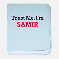 Trust Me, I'm Samir baby blanket