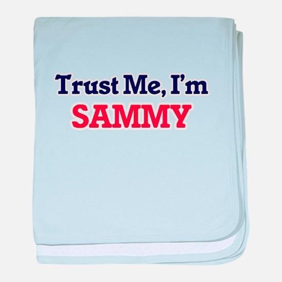 Trust Me, I'm Sammy baby blanket