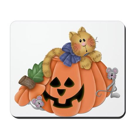 Cute Cat & Mice w/Pumpkin Mousepad