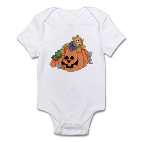 Cute Cat & Mice w/Pumpkin Infant Bodysuit