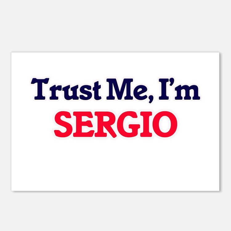 Trust Me, I'm Sergio Postcards (Package of 8)