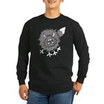Frazzled Cat Long Sleeve Dark T-Shirt