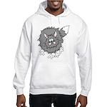 Frazzled Cat Hooded Sweatshirt