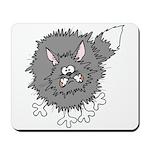 Frazzled Cat Mousepad