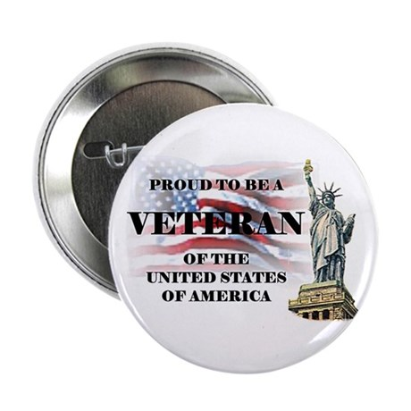 "Proud To Be A Veteran 2.25"" Button (100 pack)"