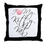 I Love My Kitty Kat Throw Pillow