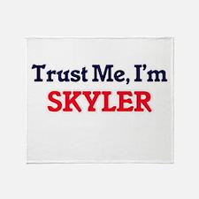 Trust Me, I'm Skyler Throw Blanket