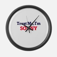 Trust Me, I'm Sonny Large Wall Clock