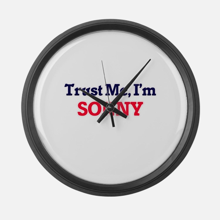 Trust Me, I'm Sonny Large Wall Clock