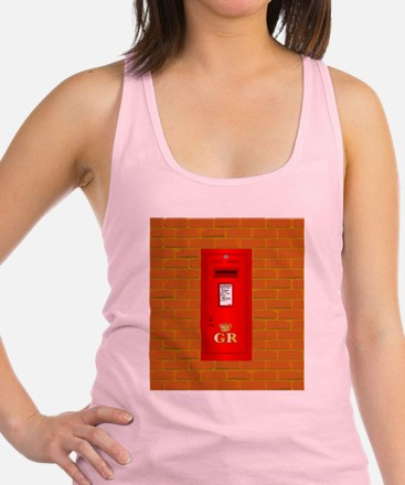 Funny Red post box Racerback Tank Top