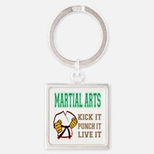 Mixed martial arts kick it punch i Square Keychain