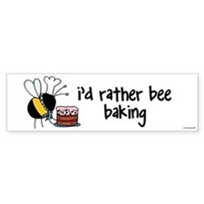 pastry chef,baker Bumper Car Sticker