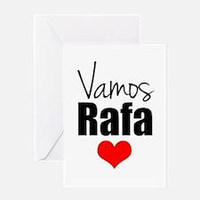 Vamos Rafa Love Greeting Cards