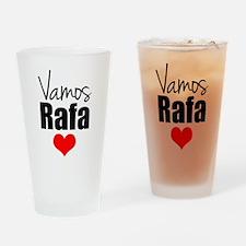 Vamos Rafa Love Drinking Glass