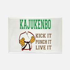 Kajukenbo kick it punch it live i Rectangle Magnet
