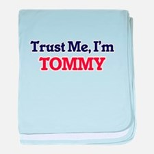 Trust Me, I'm Tommy baby blanket