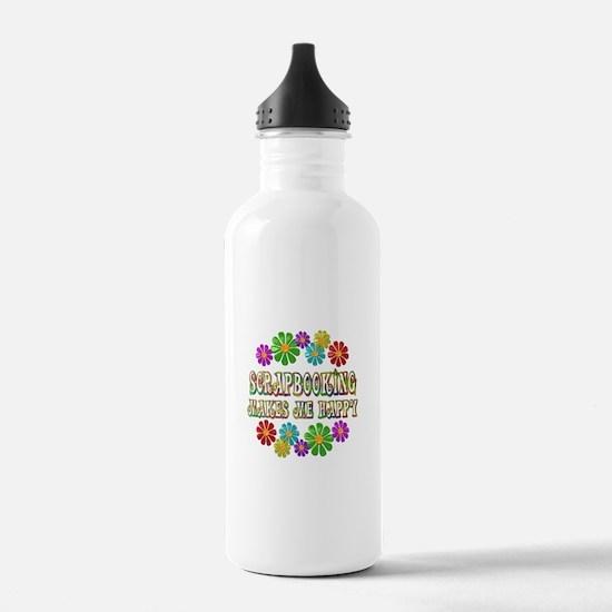 Scrapbooking Happy Water Bottle