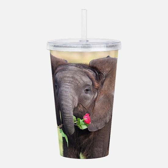 BABY ELEPHANT , LOVE Acrylic Double-wall Tumbler