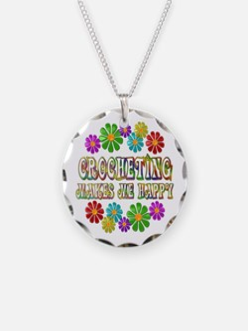 Crocheting Happy Necklace
