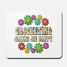 Crocheting Happy Mousepad
