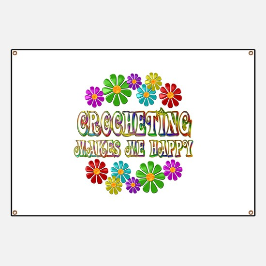 Crocheting Happy Banner