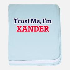 Trust Me, I'm Xander baby blanket