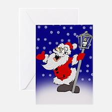 Drunk Santa Greeting Card