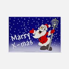 Drunk Santa Rectangle Magnet