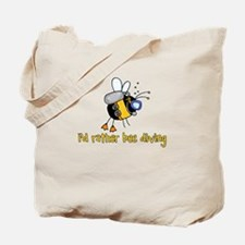 i'd rather bee diving Tote Bag