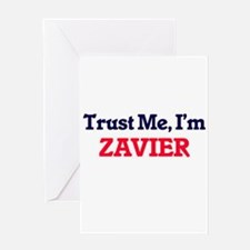 Trust Me, I'm Zavier Greeting Cards