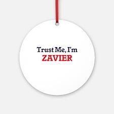 Trust Me, I'm Zavier Round Ornament