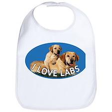 I love Labs Bib