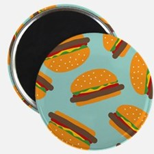 Cute Burger Pattern s Magnets