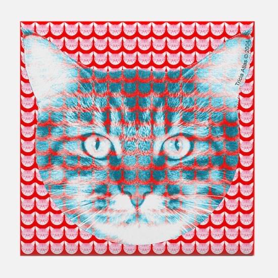 Cat Face Tile Coaster