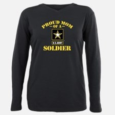 Unique Proud army mom of son Plus Size Long Sleeve Tee