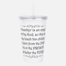 Cute Teacher appreciation Acrylic Double-wall Tumbler
