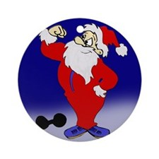 Strong Santa Ornament (Round)
